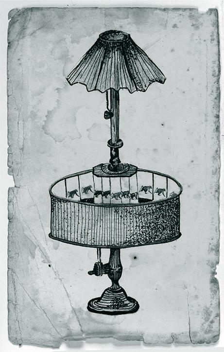 cyan 02. Ilustracion de Praxinoscopio