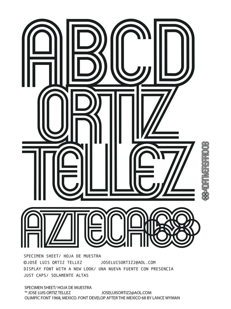 Mexico 68 - Mexcelent Font