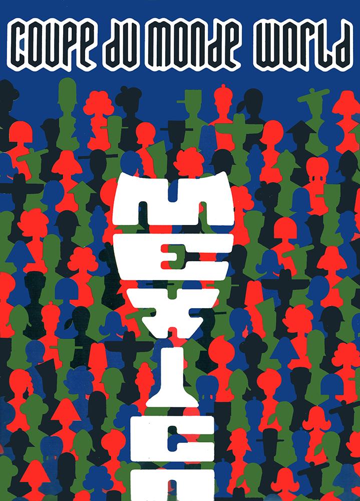 Pagina editorial de la Revista Copa del Mundo. Director de arte: José Luis Ortiz Téllez, para Internacional de Diseño Industrial, IDISA.
