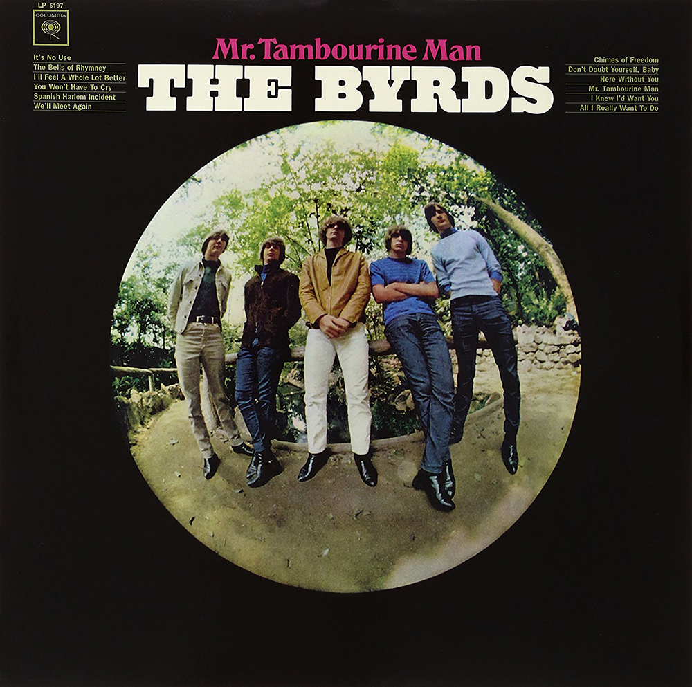 Mr. Tambourine Man para The Byrds (foto de Barry Feinstein)