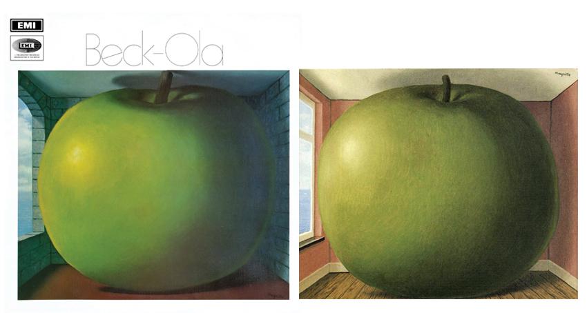 Beck-Ola de The Jeff Beck Group, a partir de la obra La Chambre d´ecoute, de Rene Magritte.