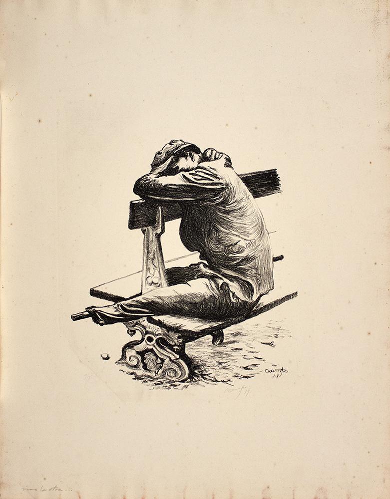 Isidoro Ocampo ¿Vino la otra… qué sigue?, 1939 Litografía (9/25) 35 x 33 cm. (a. i.) 65 x 50.5 cm. (s.) Colección Ernesto Arnoux © Isidoro Ocampo.