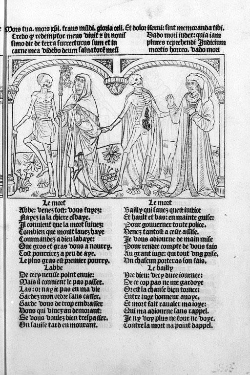 Guy Marchant. La Danse macabre. Grabado, 1486. París.
