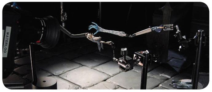 Brazo mecánico utilizado en la producción de animaciones.