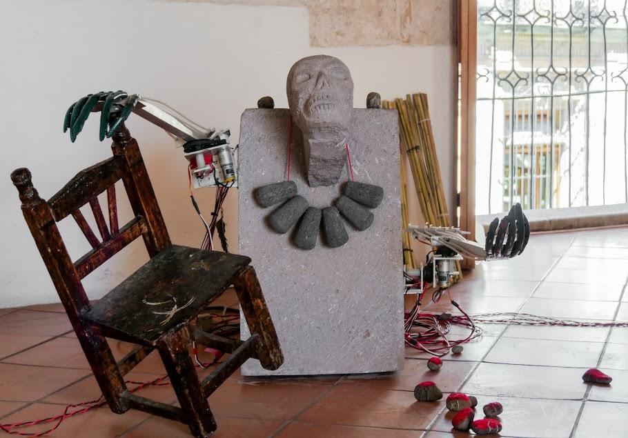 Fernando Palma, Guex Liu, Kuu Ñunro Totlalhuan, 2017, Instalación interactiva.