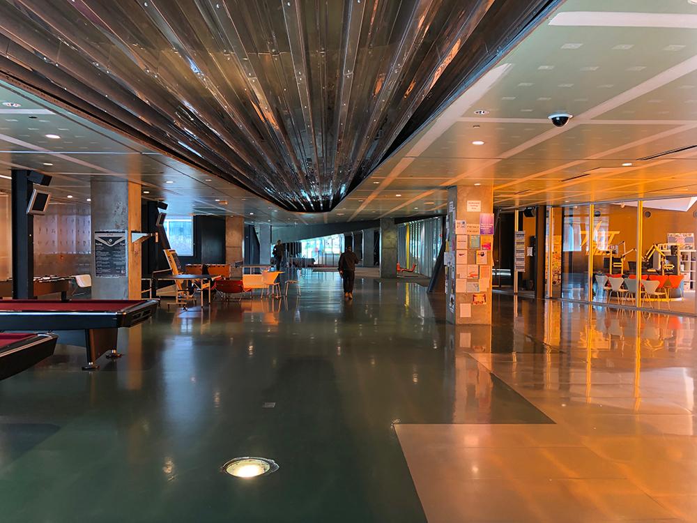 Interiores Campus Center.  © Fabio Vélez. 2019