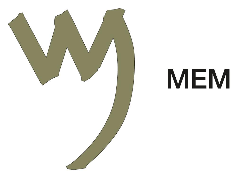 La letra fenicia MEM que simbolizaba el agua.