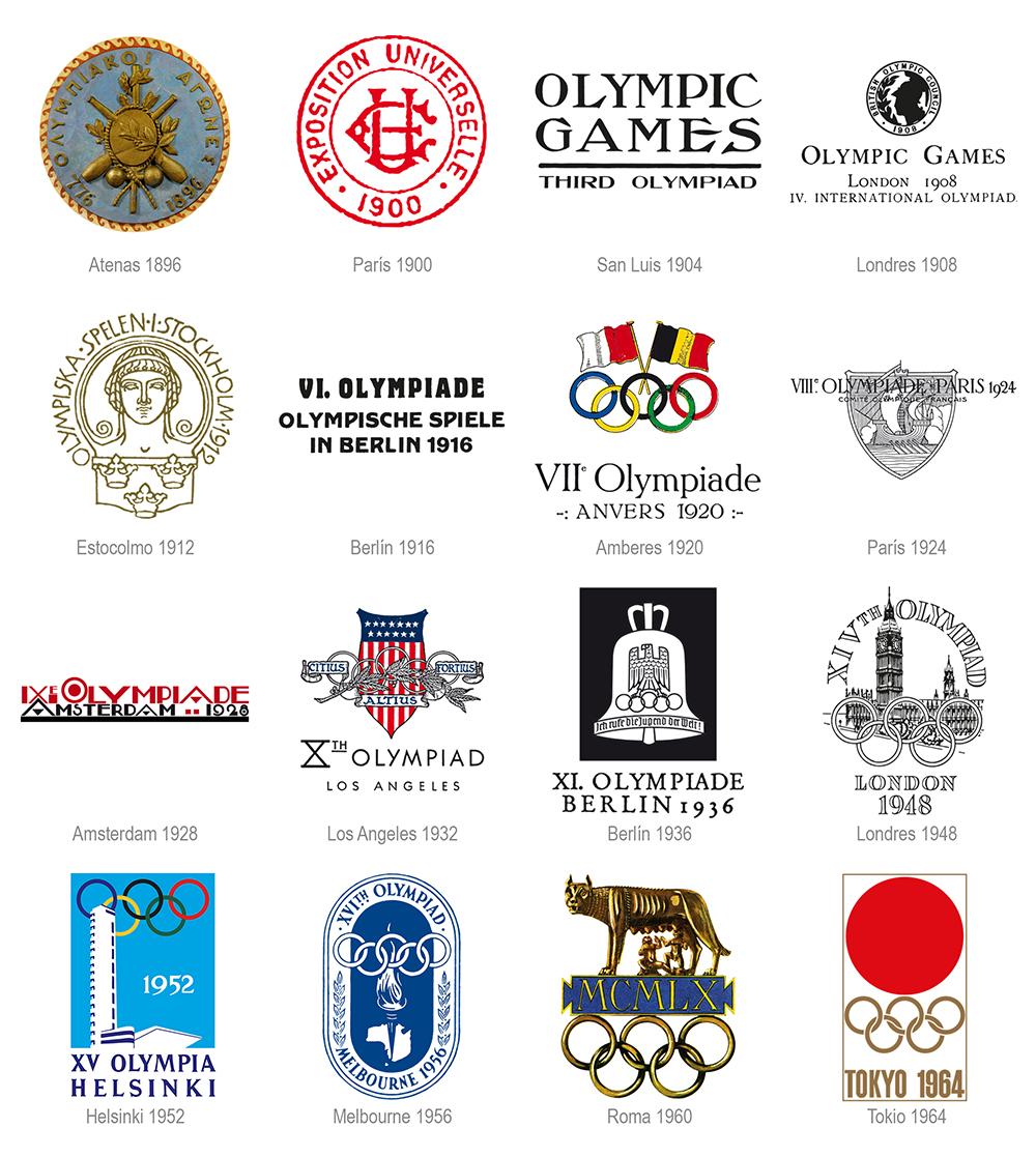 Identidades olímpicas desde Atenas 1896 hasta Tokio 1964