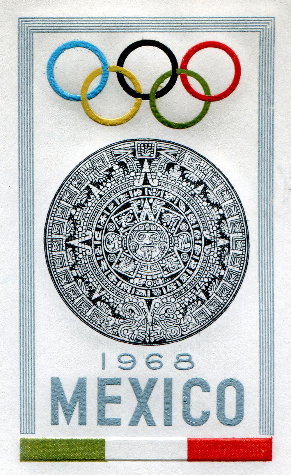 Emblema oficial registrado ante el Comité Olímpico Internacional en 1964.