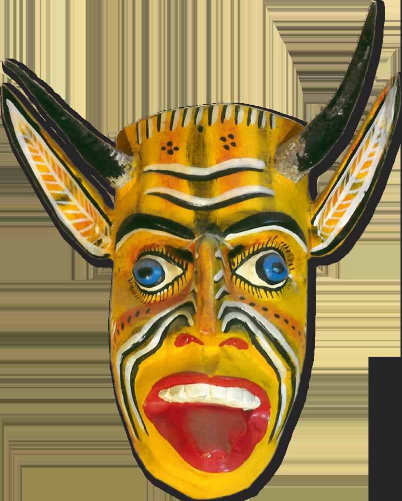 Máscara de Diablo Amarillo. Madera. Estado de Guerrero. Colección del autor.
