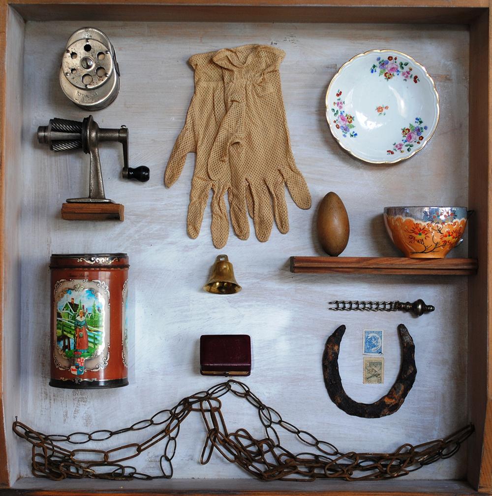 Algunos de los objetos de Beariz Viterbo.