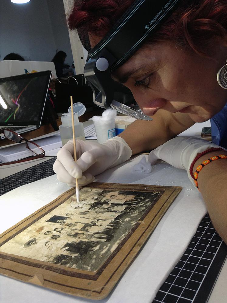Taller conservación de fotografía antigua. Hydra+Fotografía, Mercedes Aguado Zamora, 2019.