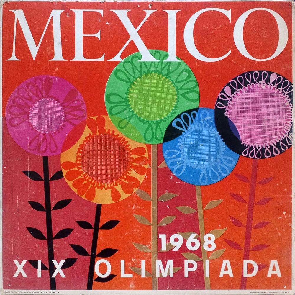 Fig. 12. Cartel: Flores, Diseño de Cartel: Manuel Villazón, Ejecución: Dolores Sierra Campuzano.