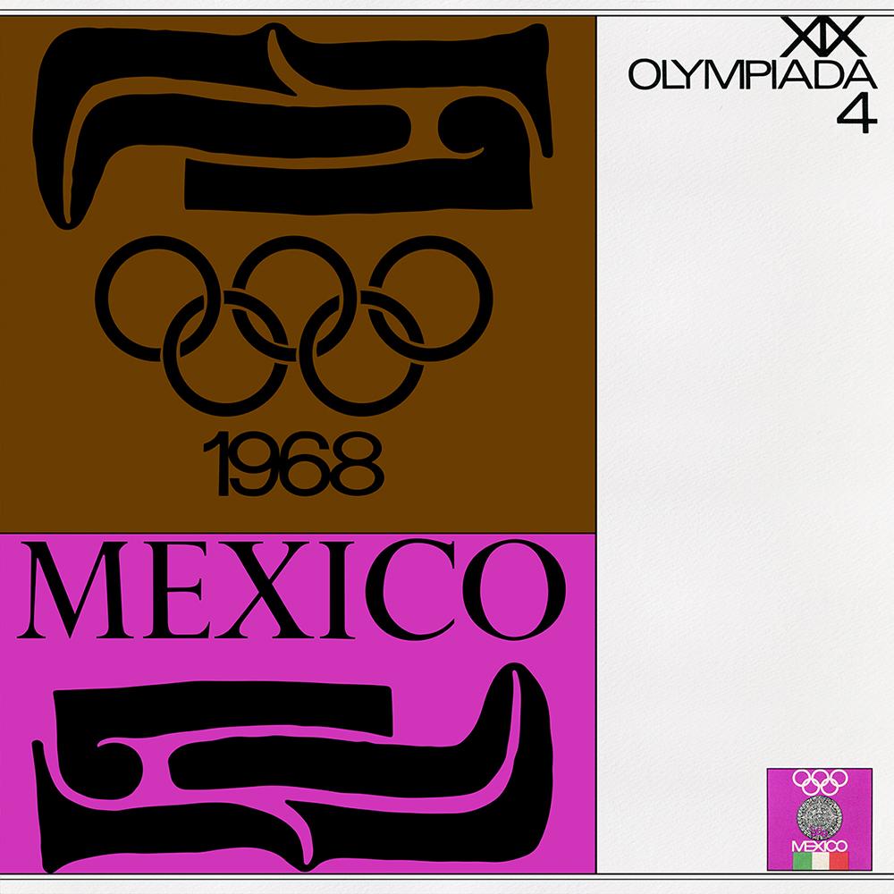 Fig. 4. Portada del Boletín Oficial No. 4, Diseñado por el equipo de Manuel Villazón, publicado por el COO México 68.