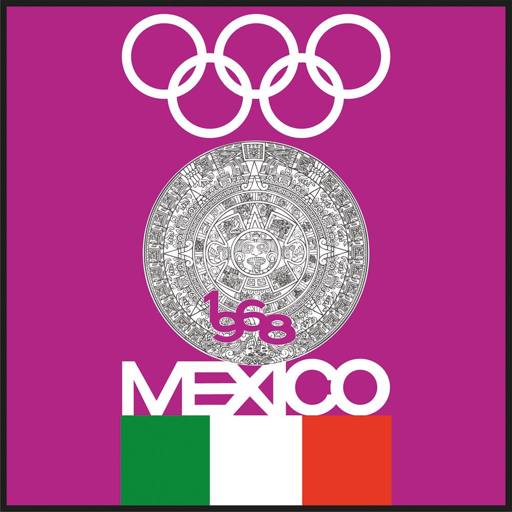 Fig. 5. Adaptación del nuevo equipo de Diseño al emblema de identidad gráfica olímpica, para el Boletín oficial número 4.