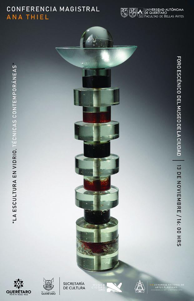 """Cartel de """"La escultura en vidrio. Técnicas contemporáneas""""."""