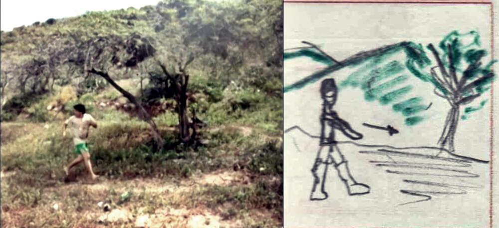 Comparación fotograma con storyboard, Escena 2. Guido J Castro (2020).