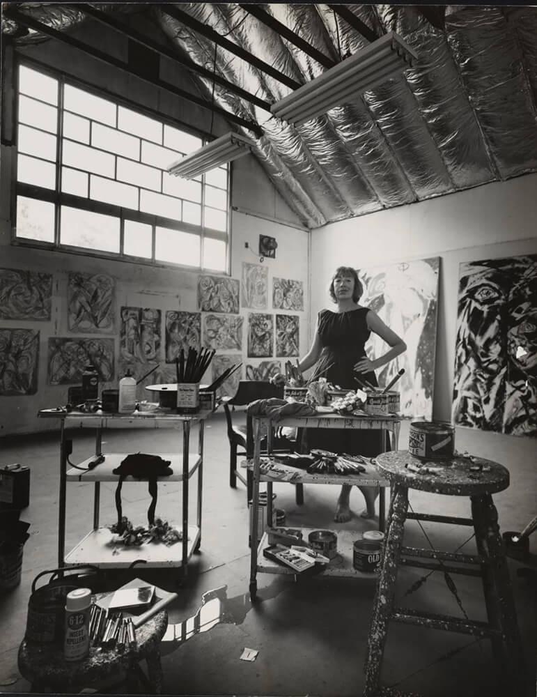 Lee Krasner (Brooklyn, 1908 –1984). Pintora norteamericana del expresionismo abstracto.