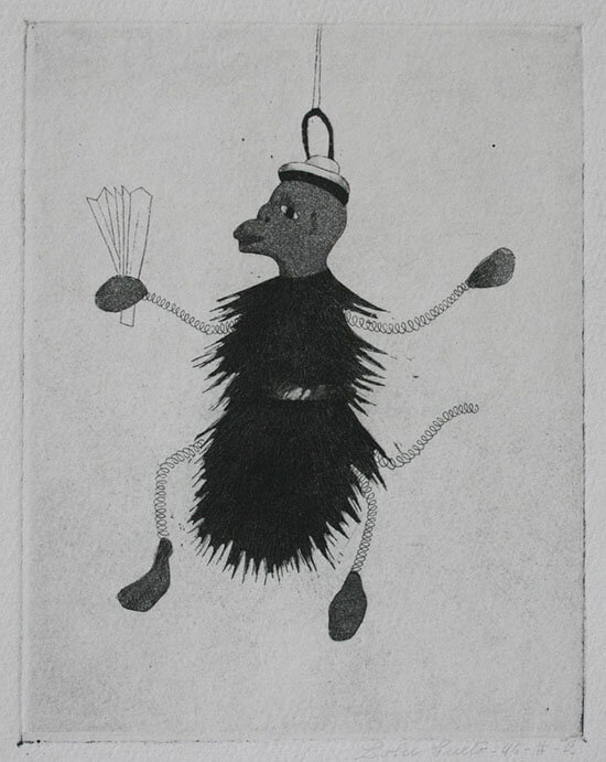 """Lola Cueto, """"Changuito"""", técnica: aguafuerte. Colección Blaisten"""